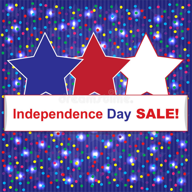 Självständighetsdagenförsäljningsbakgrund royaltyfria bilder