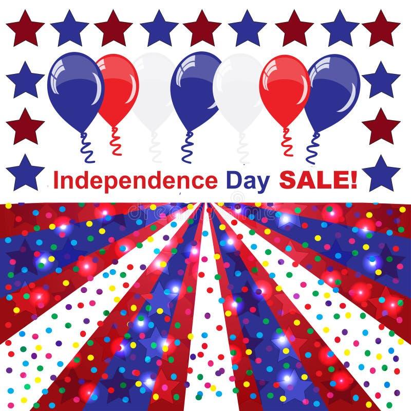 Självständighetsdagenförsäljningsbakgrund arkivbilder