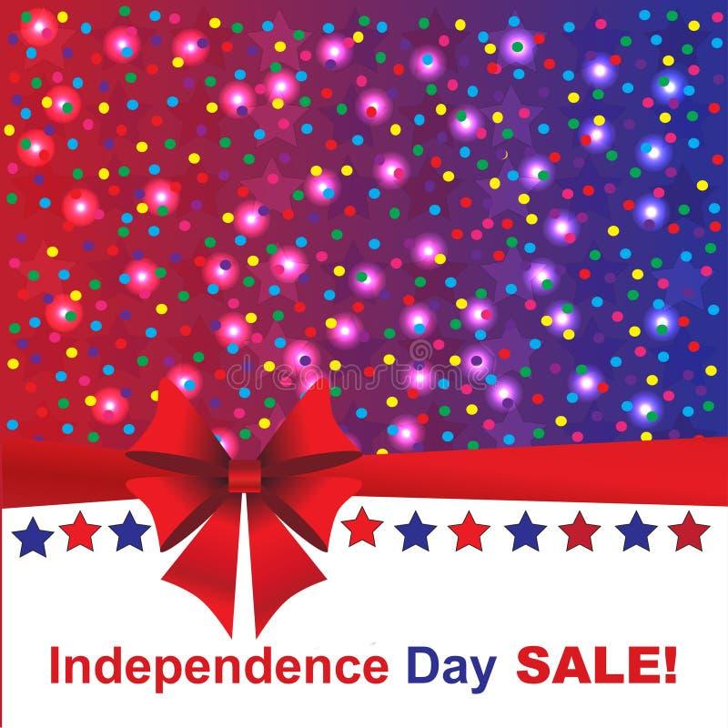 Självständighetsdagenförsäljningsbakgrund royaltyfri foto