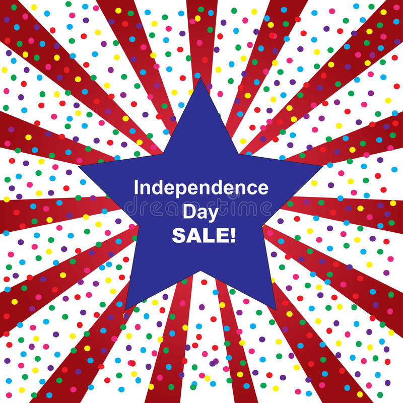 Självständighetsdagenförsäljningsbakgrund royaltyfri fotografi