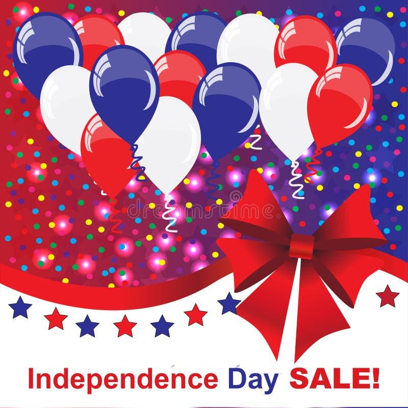 Självständighetsdagenförsäljningsbakgrund arkivfoto