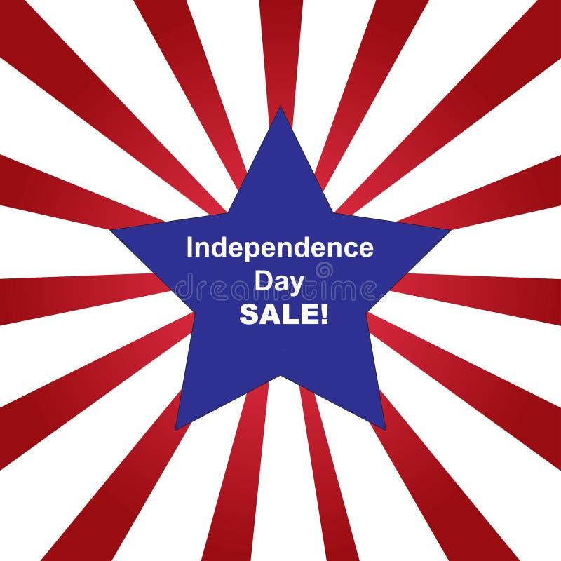 Självständighetsdagenförsäljningsbakgrund arkivbild
