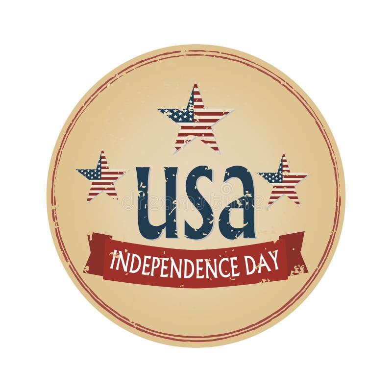 SjälvständighetsdagenUSA logotyp royaltyfria foton