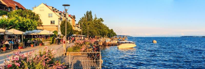 Sjö av Konstanz på Uberlingen i Tyskland fotografering för bildbyråer