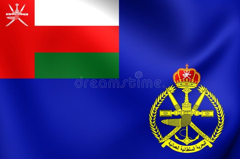 Sjö- flagga av Oman royaltyfri illustrationer