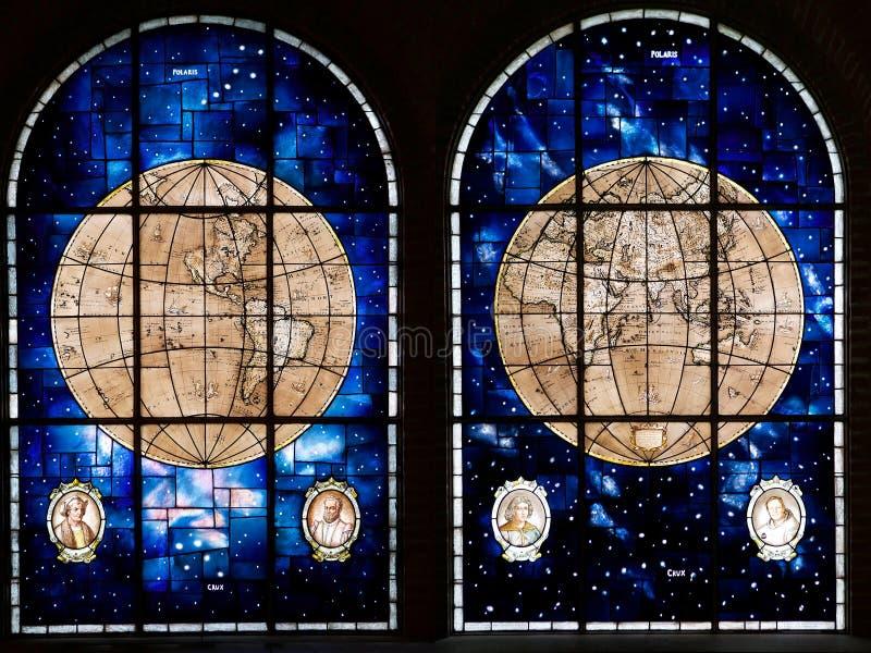Sjö- härligheter hyr rum på det maritima museet i Valparaiso, Chile royaltyfria bilder