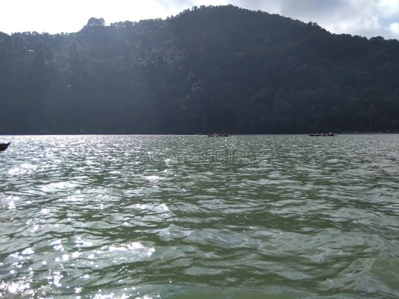 Sjö i Nainital Uttarakhand Indien arkivfoton