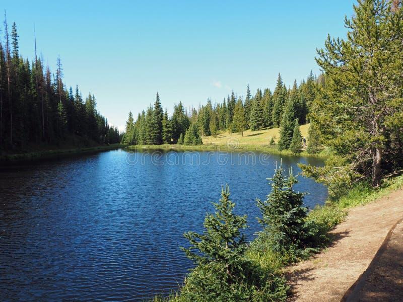 Sjö Irene i Rocky Mountains National Park arkivbilder