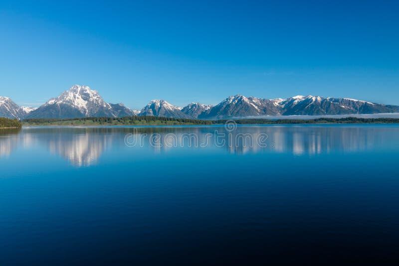 Sjö Jackson i Wyoming royaltyfria bilder