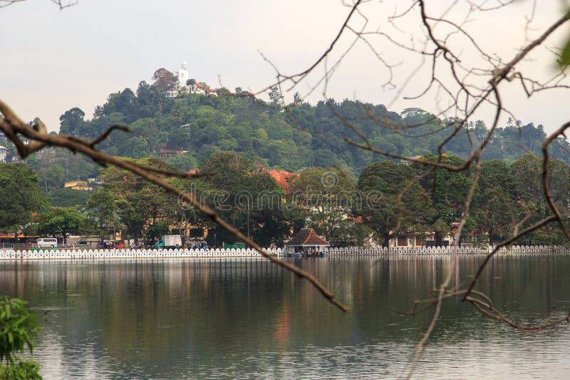 Sjö Kandy - Sri Lanka arkivfoton