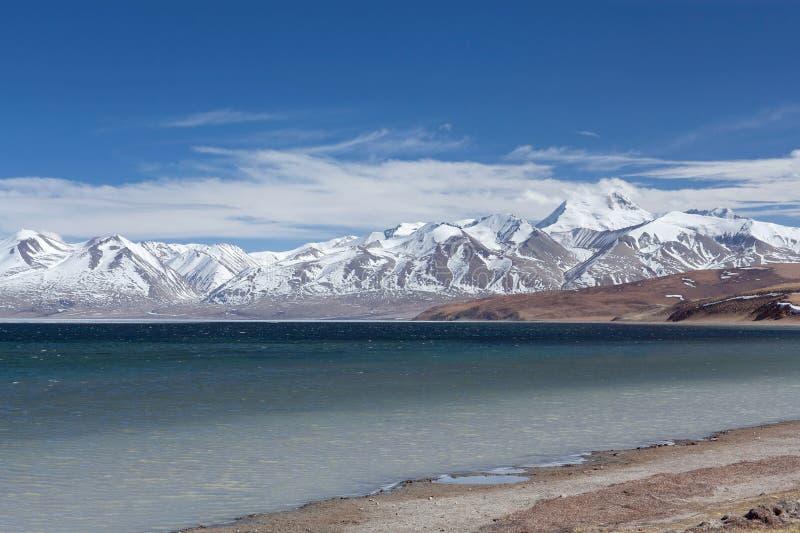 Sjö Manasarovar i västra Tibet, Kina royaltyfria foton