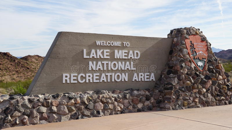 Sjö Mead National Recreation Area i Nevada arkivbilder
