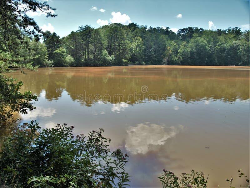 Sjö Norman State Park i North Carolina arkivfoton