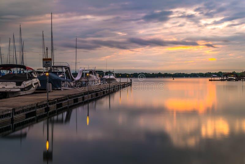 Sjö Norman Sunset 2 fotografering för bildbyråer