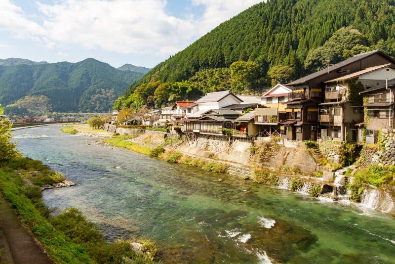 Sjö och berg i Japan royaltyfri foto