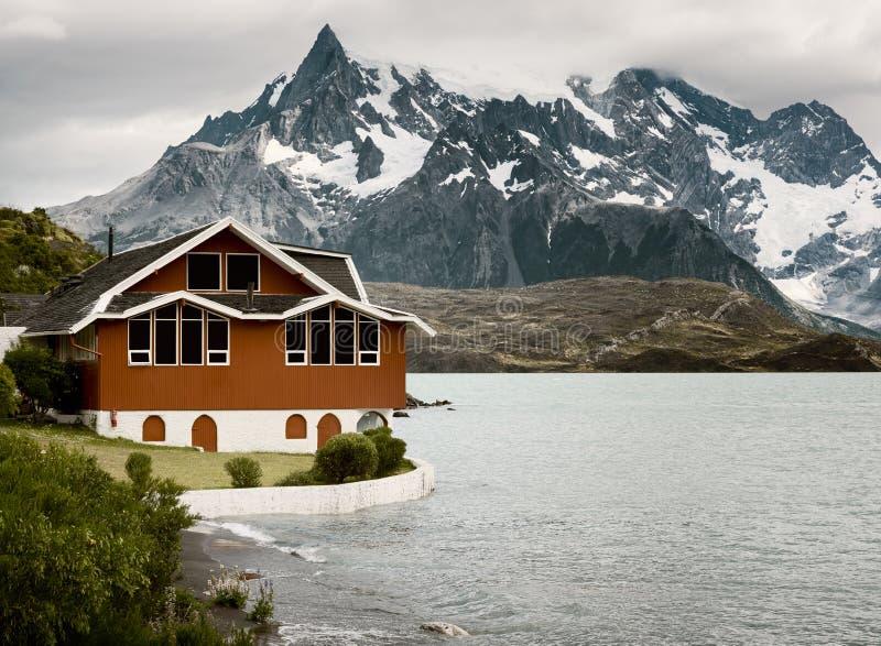 Sjö Pehoe, Torres Del Paine National Park, Patagonia royaltyfria bilder