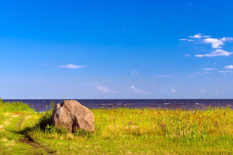 Sjö Peipsi i Estland royaltyfria bilder
