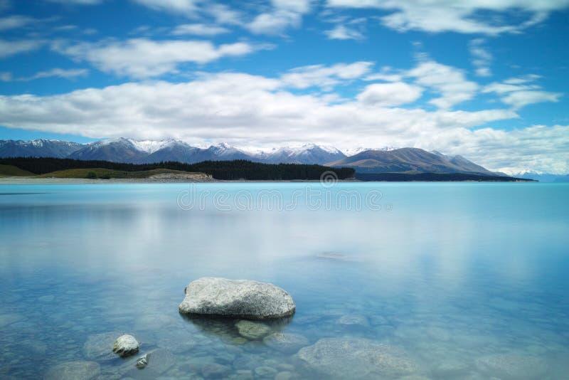 Sjö Puraki, södra ö, Nya Zeeland arkivfoton