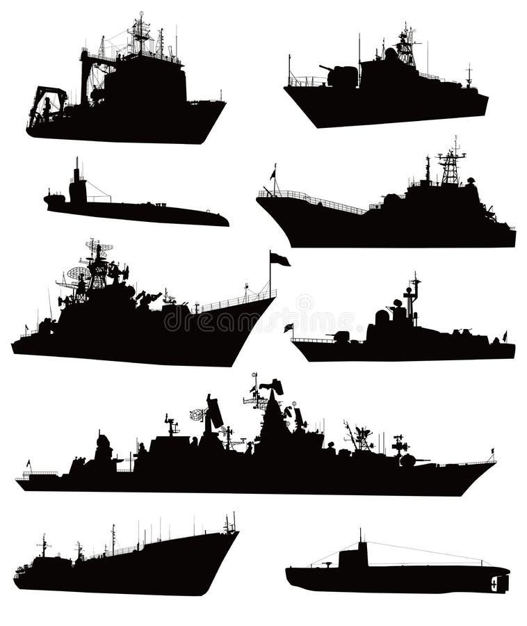 Sjö- set royaltyfri illustrationer