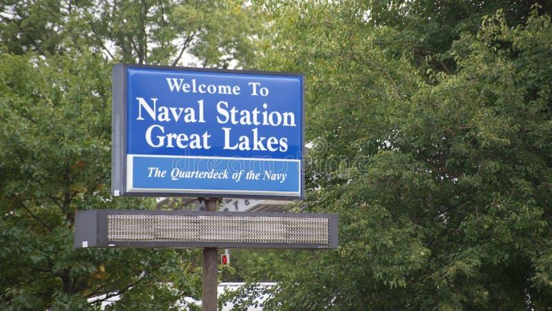 Sjö- station Great Lakes Illinois arkivbild