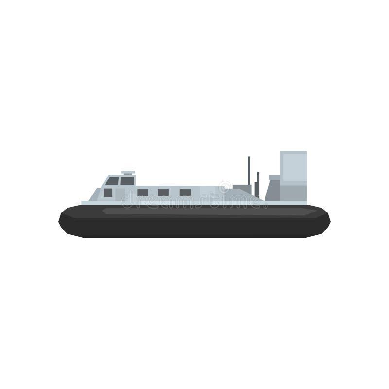 Sjö- stridskepp för tecknad film Nautisk marin- fartygsymbol Stor vattentransport Grafisk beståndsdel för website, mobillek eller vektor illustrationer
