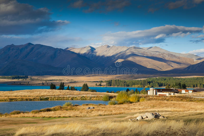 Sjö Tekapo, Nya Zeeland royaltyfri foto