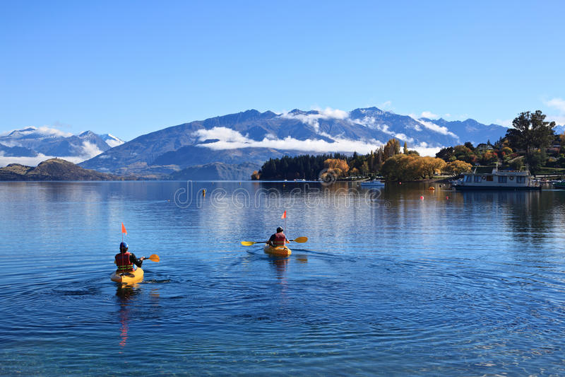 Sjö Wanaka, södra ö Nya Zeeland arkivfoton