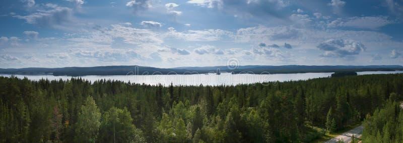 Sjöbild i Sverige arkivfoto