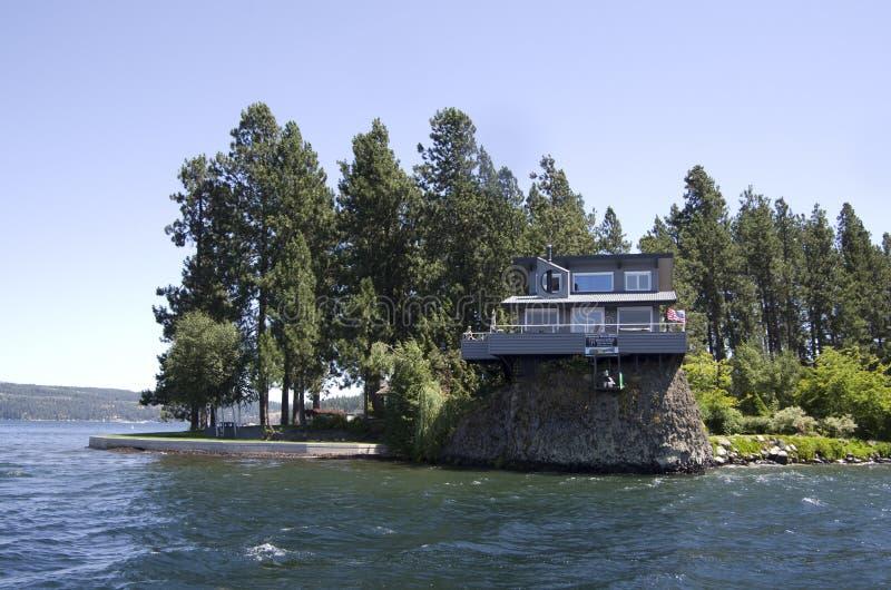 SjöCoeur dAlene Idaho nära Spokane Washington arkivfoton