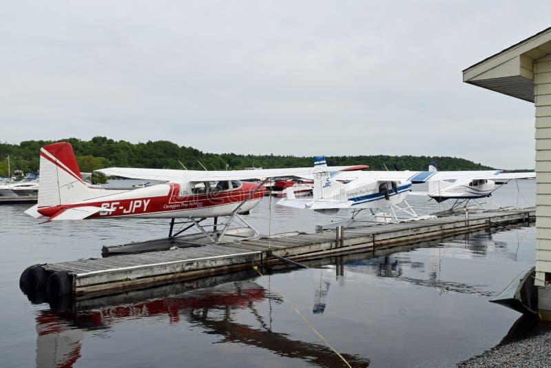 Sjöflygplan på Parry Sound, Ontario, Kanada royaltyfri bild