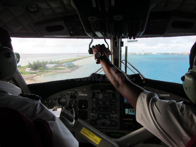 Sjöflygplancockpit arkivfoto