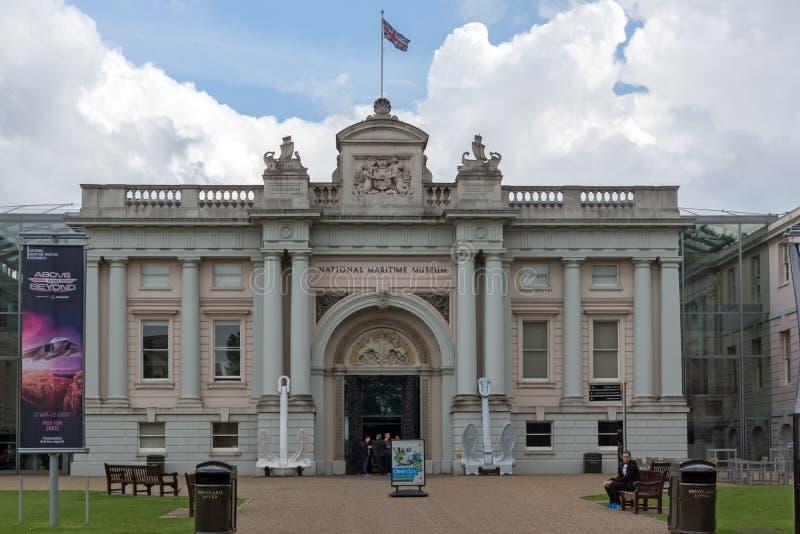 Sjöhistoriska museet i Greenwich, London, England, Storbritannien arkivfoton