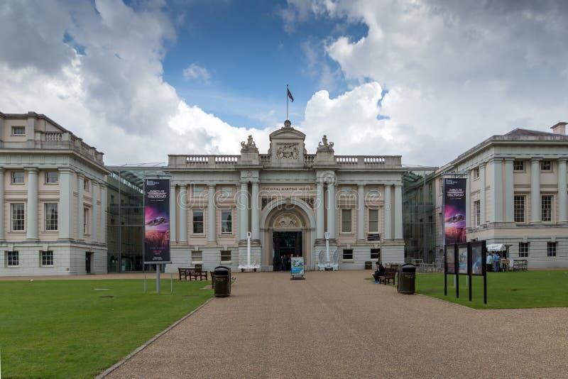 Sjöhistoriska museet i Greenwich, London, England, Storbritannien royaltyfria foton