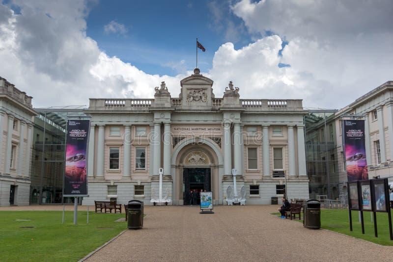 Sjöhistoriska museet i Greenwich, London, England, Storbritannien royaltyfri foto
