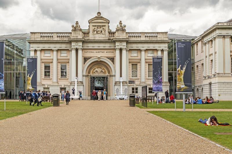Sjöhistoriska museet på Greenwich, London royaltyfri fotografi