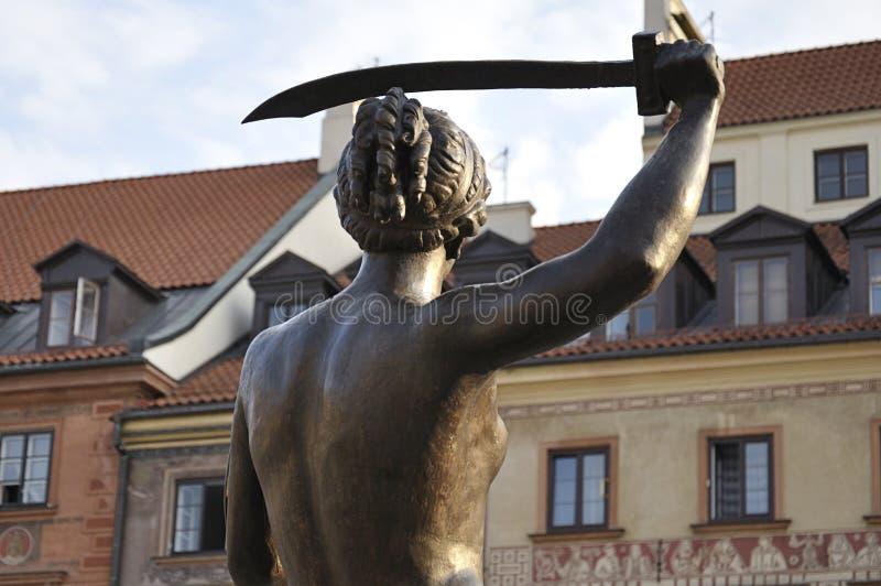 Sjöjungfru av Warszawa royaltyfri bild