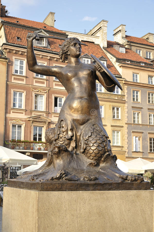 Sjöjungfru av Warszawa arkivfoto