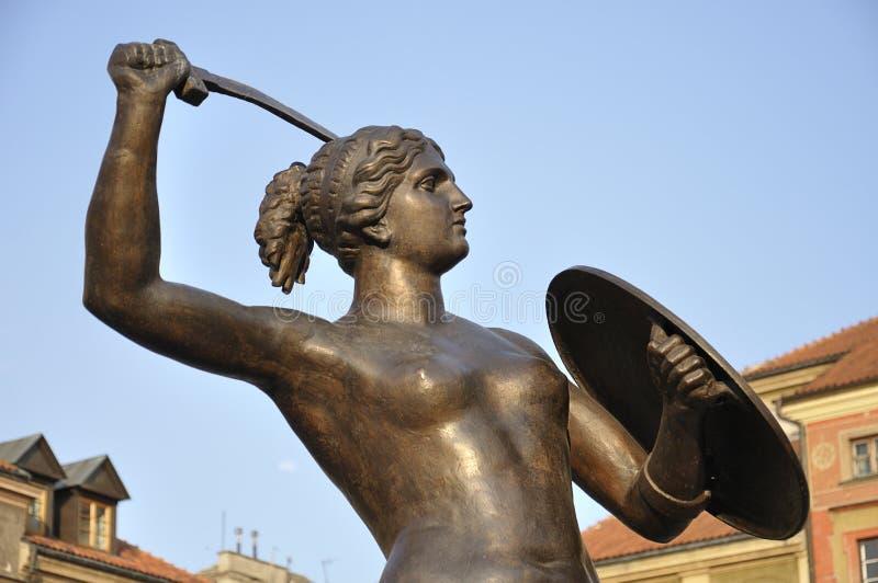 Sjöjungfru av Warszawa royaltyfri foto