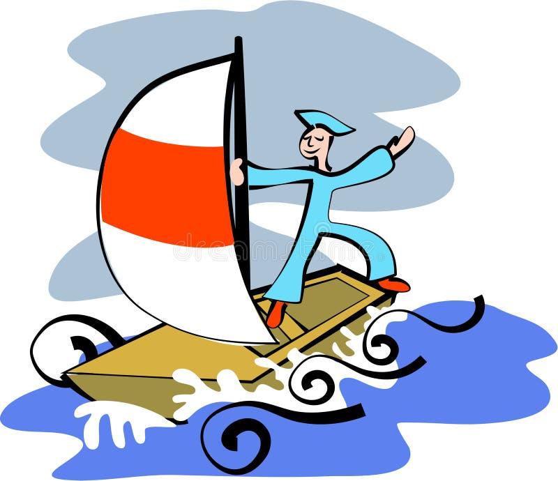 sjöman royaltyfri illustrationer