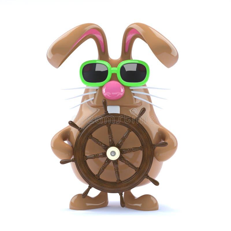 sjöman för kanin för påsk 3d stock illustrationer