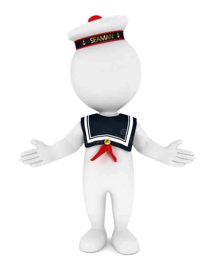 sjöman för vitt folk 3d stock illustrationer