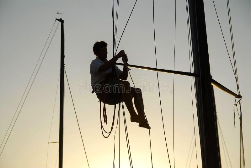 sjömansilhouette arkivfoton