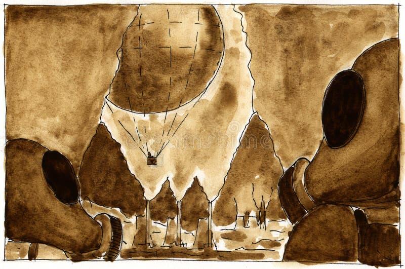 sjömansmogsmogonaut stock illustrationer