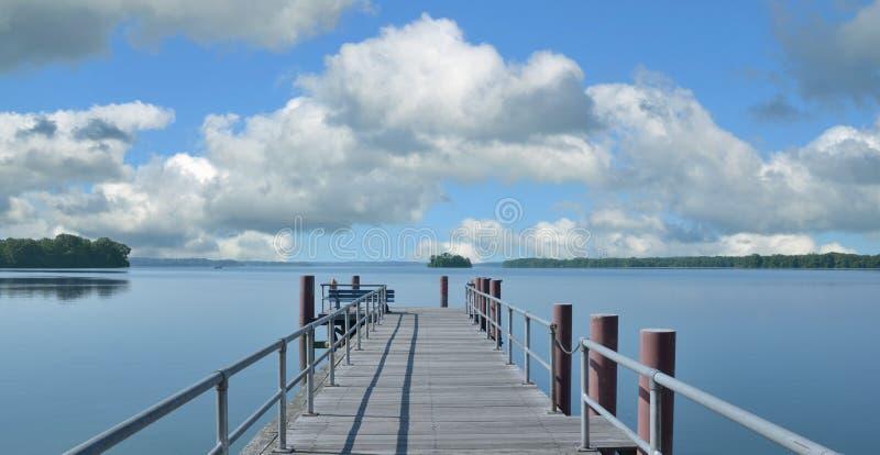 Sjön mer grosser Ploener ser, holstein Schweiz, Tyskland royaltyfri fotografi