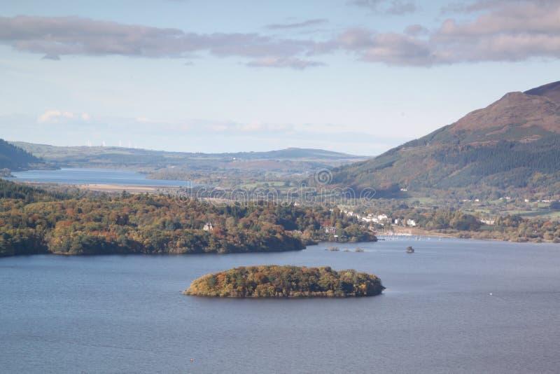 Sjöområde sjö royaltyfria foton