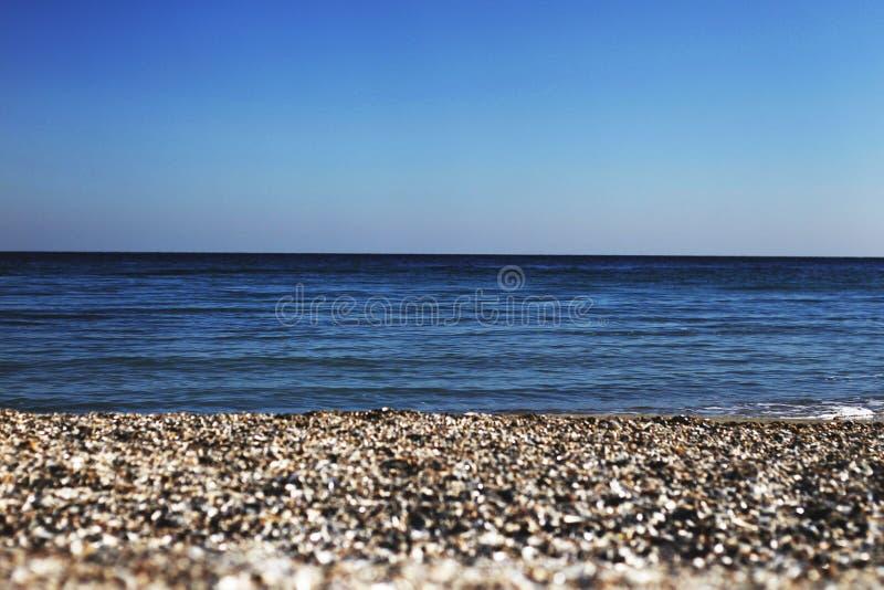 Sjösida av Blacket Sea, Odessa royaltyfria foton
