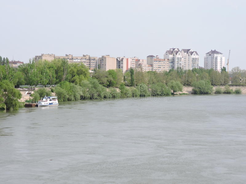 Sjösida Tiraspol arkivbilder