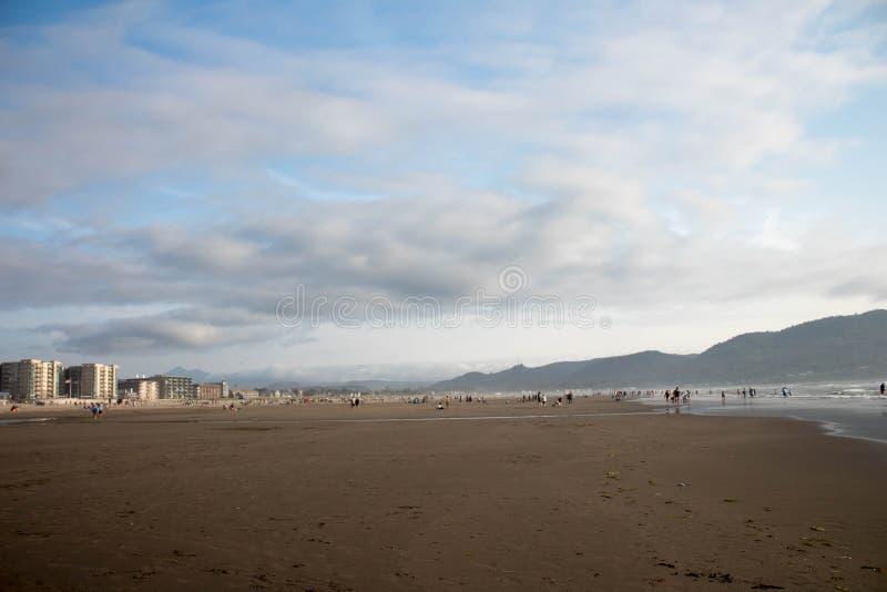 SjösidaOregon strand arkivbild