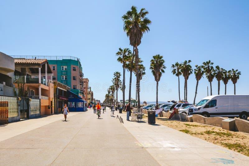 Sjösidapromenad i Los Angeles arkivfoton