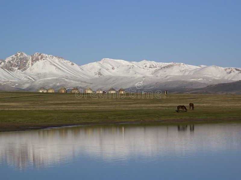 Sjöson-Kul, Kirgizistan fotografering för bildbyråer